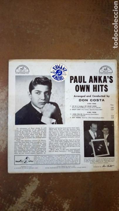 Discos de vinilo: Paul Anka–Paul Ankas Own Hits . Ep 1959. Paramount - Foto 2 - 154994254