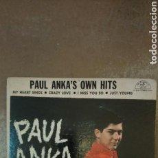 Discos de vinilo: PAUL ANKA–PAUL ANKA'S OWN HITS . EP 1959. PARAMOUNT. Lote 154994254
