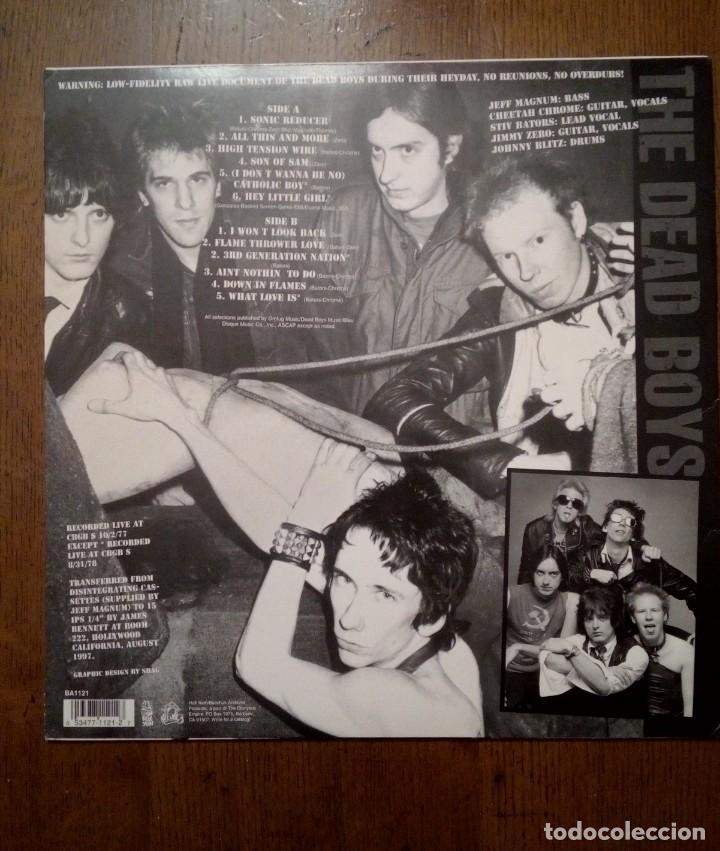 Discos de vinilo: The Dead Boys - Live at CBGB s 1977 & 1978, Hell Yeah, 1997. US. - Foto 2 - 154994794
