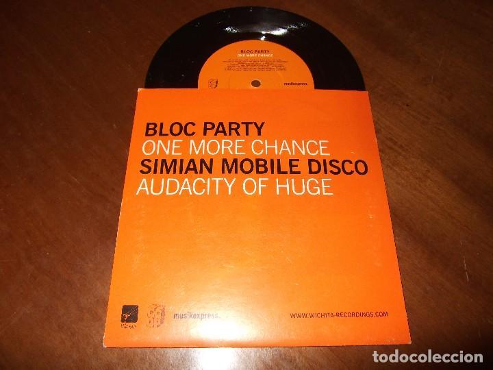 Discos de vinilo: Bloc Party / Simian Mobile Disco ?– One More Chance / Audacity Of Huge/ ELECTRONIC ROCK - Foto 2 - 154998270