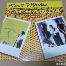 Discos de vinilo: KINITO MENDEZ (MX) CACHAMBA +3 TRACKS AÑO 1995. Lote 155003366