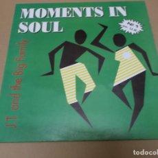 Discos de vinilo: J.T. AND THE BIG FAMILY (MX) MOMENTS IN SOUL +2 TRACKS AÑO 1990. Lote 155006070