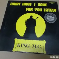 Discos de vinilo: KING M.C. FEAT SCREAMING K (MX) WHAT HAVE I DONEFOR YOU LATELY +2 TRACKS AÑO 1986 – EDICION ALEMANIA. Lote 155006958