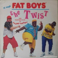 Discos de vinilo: FAT BOYS. THE TWIST. CHUBBY CHECKER. MAXI SINGLE ESPAÑA 3 TEMAS. Lote 155046818