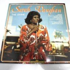 Discos de vinilo: LP. SARAH VAUGHAN. THE DIVINE. 1987. SARABANDAS. Lote 155071050