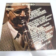 Discos de vinilo: LP. SWING WITH BENNY GOODMAN AND HIS ORCHESTRA. HARMONY COLUMBIA. Lote 155078438