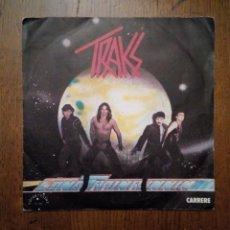 Discos de vinilo: TRAKS - LONG TRAIN RUNNING / DRUMS POWER, CARRERE, 1982. FRANCE.. Lote 206551158