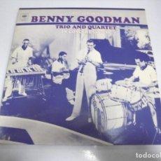 Discos de vinilo: LP. BENNY GOODMAN. TRIO AND QUARTET IN CONCERT. 1937 - 38. CBS. Lote 155084114