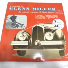 Discos de vinilo: LP. DOBLE. A MEMORIAL FOR GLENN MILLER. VOL.1. . Lote 155085734