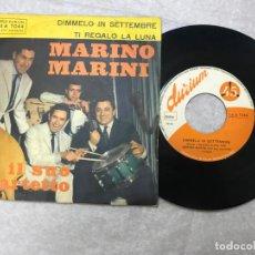 Discos de vinilo: SINGLE MARINO MARINI ED IL SUO QUARTETTO, DIMMELO IN SETTEMBRE/TI REGALO LA LUNA - DURIUM. Lote 155095422