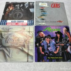 Discos de vinilo: 4 SINGLE POISON, CHICAGO, THE CARS, ALICE COOPER, AÑOS 70-80 . Lote 155096914