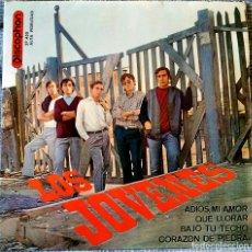 Discos de vinilo: LOS JOVENES ADIOS MI AMOR / QUE LLORAR / BAJO TU TECHO / CORAZON DE PIEDRA EP VINILO 1965 DISCOPHON. Lote 155099230