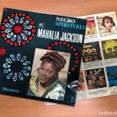 Discos de vinilo: EP THE MAHALIA JACKSON NEGRO SPIRITUALS EDITADO EN ESPAÑA POR DISCOPHON 1961. Lote 155100038