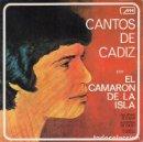 Discos de vinilo: EL CAMARON DE LA ISLA - CANTOS DE CADIZ - SINGLE DE VINILO. Lote 155101658