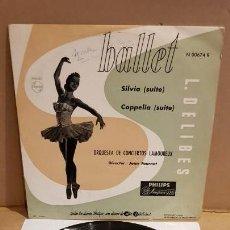 Discos de vinilo: 10 PULGADAS !! ORQUESTA DE CONCIERTOS LAMOREUX / BALLET / LP-PHILIPS - AÑOS 50 / MBC. ***/***. Lote 155105746