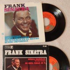Discos de vinilo: 2 SINGLE FRANK SINATRA. Lote 155130298
