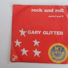 Discos de vinilo: GARY GLITTER-SINGLE ROCK AND ROLL. Lote 155135750