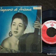 Discos de vinilo: IMPERIO DE TRIANA / CORAZON DE ARENA / LA CRUZ DE GUERRA. Lote 155140182