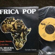 Discos de vinilo: GREGORIO SEGURA Y SU ORQUESTA, AFRICA POP- SINGLE. Lote 155142918