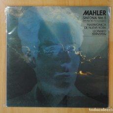 Discos de vinilo: LEONARD BERNSTEIN - MAHLER SINFONIA Nº 5 - LP. Lote 155143113