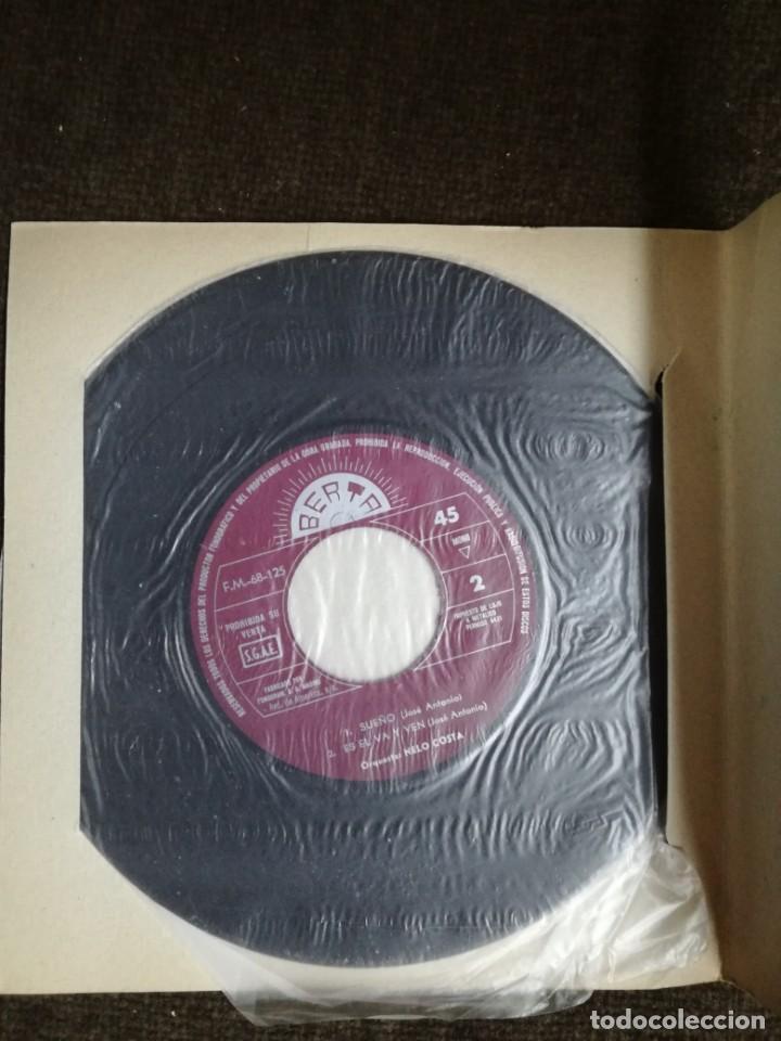 Discos de vinilo: -TONIO- NELO COSTA. BARRERAS - CARIÑO - SUEÑO - ES EL VAIVEN - BERTA 1969 - MUY RARO - Foto 2 - 155149542