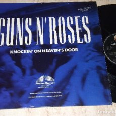 Discos de vinilo: GUNS N' ROSES ?– KNOCKIN' ON HEAVEN'S DOOR-MAXI-ESPAÑA-1992-GEFFEN RECORDS ?– GET 19078 (3A). Lote 155151586
