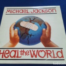 Discos de vinilo: VINILO SINGLE PROMOCIONAL MICHAEL JACKSON ( HEAL THE WORLD ) 1992 SONY MUSIC ESPAÑA PROMO . Lote 155154534