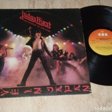 Discos de vinilo: JUDAS PRIEST – UNLEASHED IN THE EAST (LIVE IN JAPAN)-EUROPE EDITION-CBS- 83852-RARE. Lote 155165142