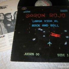 Discos de vinilo: BARON ROJO - LARGA VIDA AL ROCK AND ROLL. ..LP DE 1ª EDICION .HS35044 - CHAPA DE 1981 CON LETRAS. Lote 155166818
