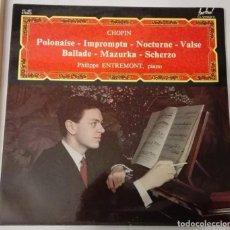 Discos de vinilo: RARA EDICIÓN DEL DISCO DE CHOPIN ,CON PHILIPPE ENTREMONT AL PIANO.. Lote 155178342