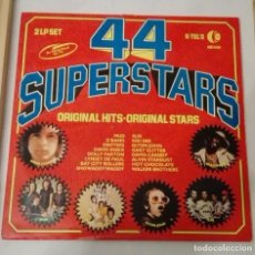 Discos de vinilo: DISCO DE 44 SUPERSTARS 2 LP.. Lote 155180370