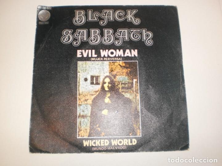 SINGLE BLACK SABBATH. EVIL WOMAN. VERTIGO 1970 SPAIN (PROBADO Y BIEN, SEMINUEVO) (Música - Discos - Singles Vinilo - Heavy - Metal)