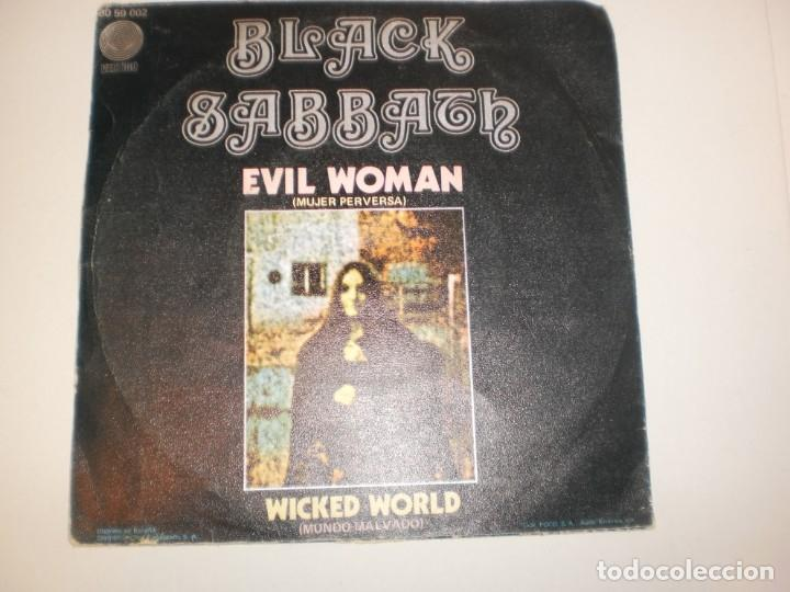 Discos de vinilo: single black sabbath. evil woman. vertigo 1970 spain (probado y bien, seminuevo) - Foto 2 - 155202022
