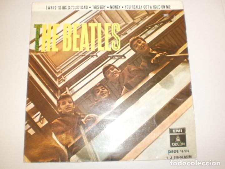 BEATLES. I WANT TO HOLD YOUR HAND. THIS BOY. MONEY. YOU REALLY GOT A HOLD ON ME. EMI 1964 SPAIN (Música - Discos - Singles Vinilo - Pop - Rock Extranjero de los 50 y 60)