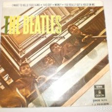 Discos de vinilo: BEATLES. I WANT TO HOLD YOUR HAND. THIS BOY. MONEY. YOU REALLY GOT A HOLD ON ME. EMI 1964 SPAIN. Lote 155203218