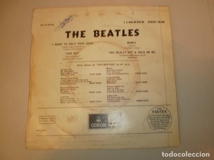 Discos de vinilo: beatles. i want to hold your hand. this boy. money. you really got a hold on me. emi 1964 spain - Foto 2 - 155203218