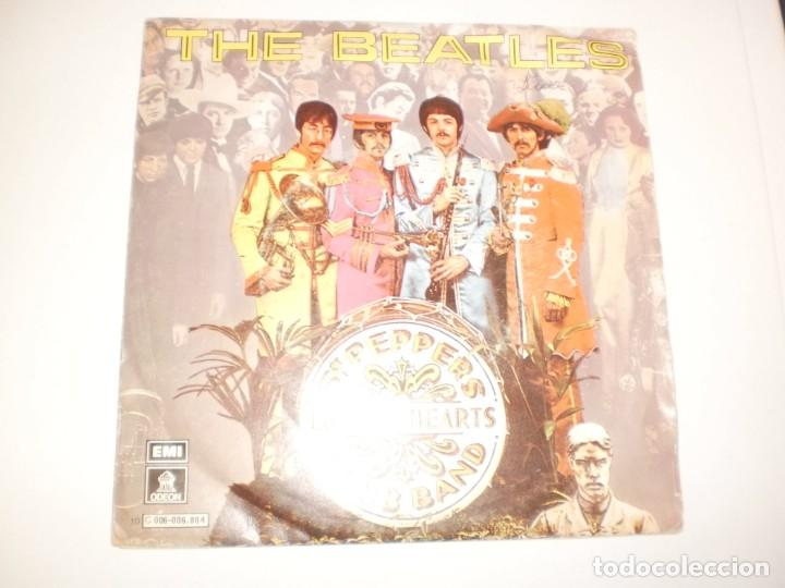 SINGLE THE BEATLES. SERGEANT PEPPER'S LONELY HEARTS CLUB BAND. WITHIN YOU WITHOUT YOU EMI 1978 SPAIN (Música - Discos - Singles Vinilo - Pop - Rock Extranjero de los 50 y 60)