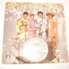 Discos de vinilo: SINGLE THE BEATLES. SERGEANT PEPPER'S LONELY HEARTS CLUB BAND. WITHIN YOU WITHOUT YOU EMI 1978 SPAIN. Lote 155203786