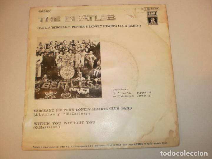 Discos de vinilo: single the beatles. sergeant pepper's lonely hearts club band. within you without you emi 1978 spain - Foto 2 - 155203786