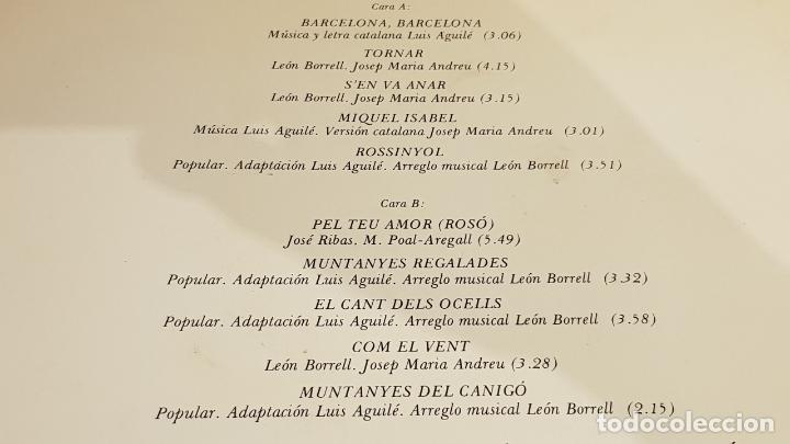 Discos de vinilo: FIRMADO !! LUIS AGUILÉ A CATALUNYA / LP GATEFOLD - ARIOLA-1975 / DEDICADO Y FIRMADO / MBC. ***/*** - Foto 5 - 155204198