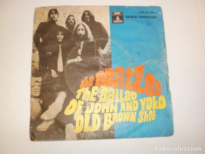 SINGLE THE BEATLES. THE BALLAD OF JOHN AND YOKO. OLD BROWN SHOE EMI 1969 SPAIN (PROBADO Y BIEN) (Música - Discos - Singles Vinilo - Pop - Rock Extranjero de los 50 y 60)