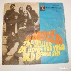 Discos de vinilo: SINGLE THE BEATLES. THE BALLAD OF JOHN AND YOKO. OLD BROWN SHOE EMI 1969 SPAIN (PROBADO Y BIEN). Lote 155205138