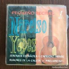 Discos de vinilo: NARCISO YEPES - PEQUEÑO RECITAL - EP ZAFIRO 1961 . Lote 155209762