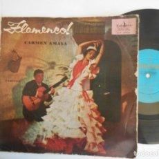 Discos de vinilo: CARMEN AMAYA Y SABICAS-LP DE 25 CTMS-ESPAÑOL. Lote 155222446
