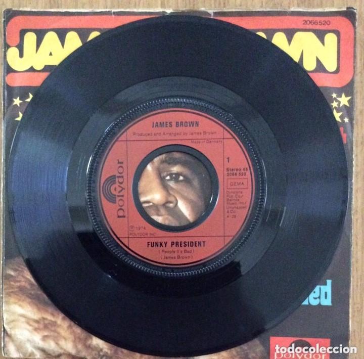 Discos de vinilo: JAMES BROWN FUNKY PRESIDENT SINGLE POLYDOR RARISIMO - Foto 2 - 155224142