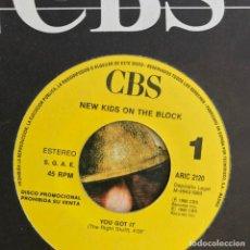 Discos de vinilo: NEW KIDS ON THE BLOCK - YOU GOT IT - SINGLE CBS 1989 - PROMO UNA CARA. Lote 155234066