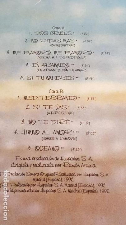 Discos de vinilo: PALOMA SAN BASILIO / PALOMA MEDITERRÁNEA / LP-HISPAVOX - 1992 / MBC ***/*** - Foto 3 - 155239058
