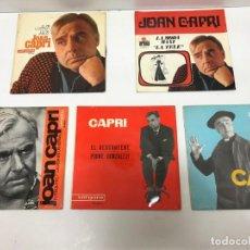 Discos de vinilo: 5 SINGLES - MAXI-SINGLES JOAN CAPRI EN CATALÀ. Lote 155242218