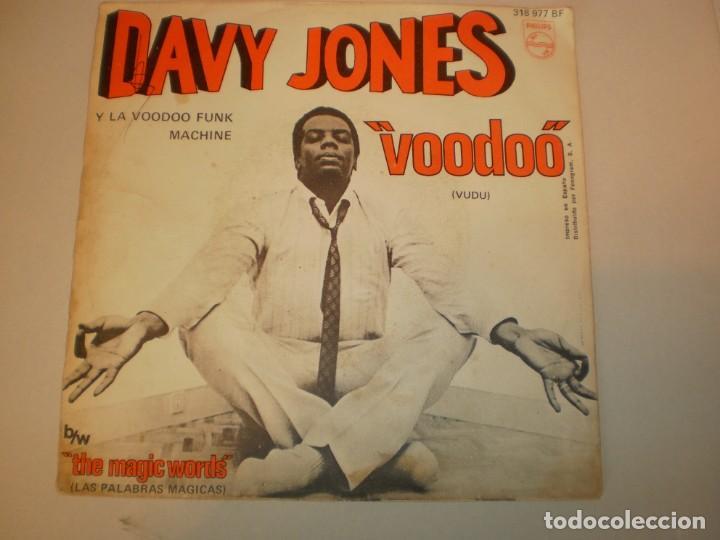 Discos de vinilo: single davy jones. voodoo (vudú). the magic words philips 1969 spain (probado y bien, seminuevo) - Foto 2 - 155247142