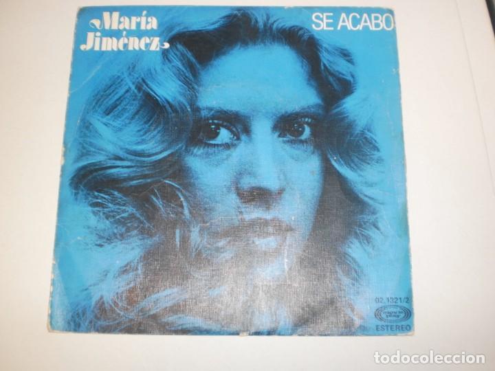 SINGLE MARÍA JIMÉNEZ. SE ACABÓ. LO SIENTO. MOVIE PLAY 1978 SPAIN (PROBADO Y BIEN) (Música - Discos - Singles Vinilo - Flamenco, Canción española y Cuplé)